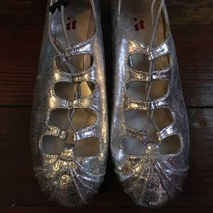 Isabel Toledo for Payless New sz 8 silver flats
